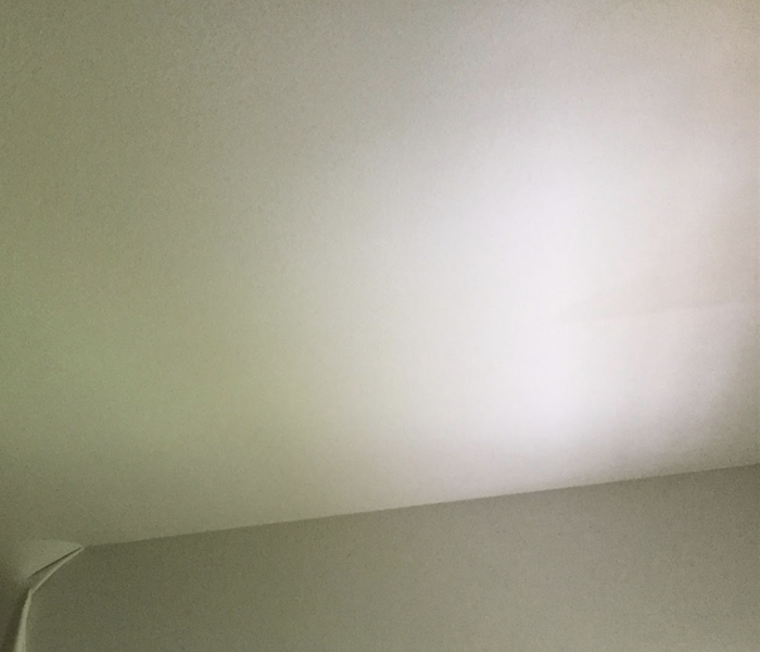 a white ceiling in a home