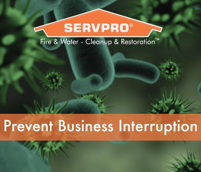 a graphic that says prevent business interrupition